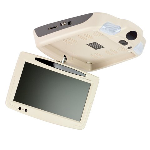 """9"""" Car Flip Down Monitor with DVD Player (Beige) Preview 4"""