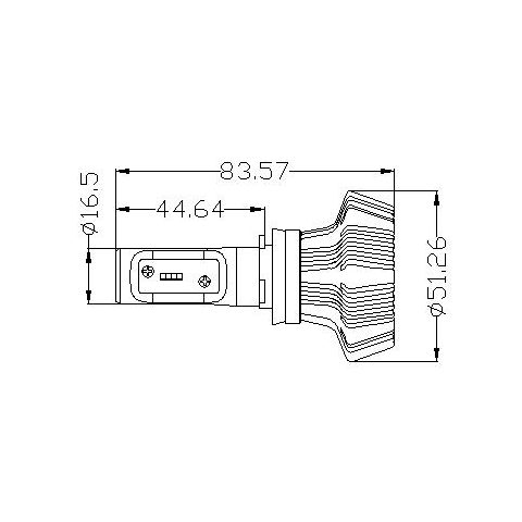 Набор светодиодного головного света UP-7HL-H11W-4000Lm (H11, 4000 лм, холодный белый)