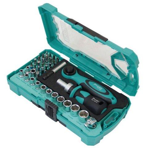 Набір біт з тріскачкою та ключем ProsKit SD-2317M Прев'ю 1