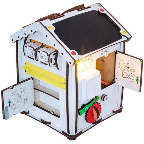 Бизиборд GoodPlay Развивающий домик с подсветкой (24×24×30) Превью 6